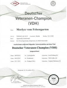 VDH-Urkunde Morlyn